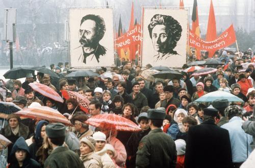 DDR-Demo vor 20 Jahren