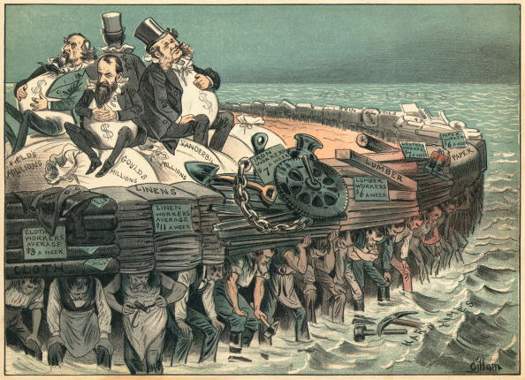 Political Cartoon Lampoons Robber Barons