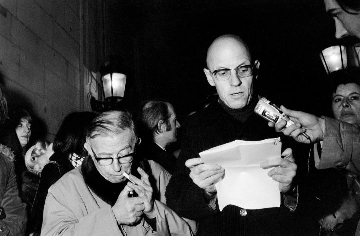 [Credit: Jean-Paul Sartre, Gilles Deleuze, and Michel Foucault; picture by Elie Kagan.]
