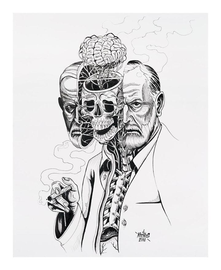 "[Credit: Nychos, ""Dissection of Sigmund Freud.""]"